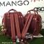 กระเป๋าเป้ Anello polyurethane leather rucksack Red Wine รุ่น Classic thumbnail 8