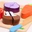 ของเล่นไม้ ชุดหั่นผักผลไม้ ทำครัว มีถาดหลุมเล่นวางจับคู่ thumbnail 3