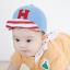 หมวกแก๊ป หมวกเด็กแบบมีปีกด้านหน้า ลายตัวอักษร H (มี 2 สี) thumbnail 6