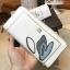 NEW! LYN Long Wallet กระเป๋าสตางค์ใบยาวซิปรอบรุ่นใหม่ล่าสุดวัสดุหนัง Saffiano สวยหรูสไตล์ PRADA ด้านหน้าประดับลายใบไม้ดูมีดีเทล thumbnail 7