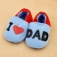 รองเท้าหัดเดินเด็กอ่อน ลาย I love Dad วัย 0-12 เดือน thumbnail 3