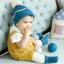 HT282••หมวกเด็ก•• / ไหมพรมสีพื้น [สีฟ้า] thumbnail 3