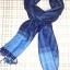 ผ้าพันคอย้อมครามทอมือ Premium Gift *สินค้า Handmade 100% ราคา 490 บาท(Ems +70) Bagshopweb.com thumbnail 13