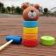 ตุ๊กตาค้อนตอกหมีไม้ ของเล่นทาวเวอร์สีรุ้ง thumbnail 3