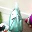 กระเป๋าถือ Mango Tote Bag with turn lock 2015 สีฟ้าน้ำทะเล สดใส thumbnail 3