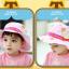 HT499••หมวกเด็ก•• / หมวกปีกกว้าง-บอลลูน (สีชมพู) thumbnail 2