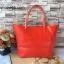 กระเป๋า MNG Shopper bag สีแดง กระเป๋าหนัง เชือกหนังผูกห้วยด้วยพู่เก๋ๆ!! จัดทรงได้ 2 แบบ thumbnail 2