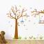 สติกเกอร์แต่งห้อง DIY การ์ตูนรูปนก กระรอก และต้นไม้ ขนาดใหญ่ ติดผนัง ลอกออกแล้วติดซ้ำได้ thumbnail 1