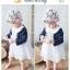 ชุดเดรสเด็กหญิง Augelute คอบัวแขนยาวตุ๊กตา สวยหรู (วัย 3-24 เดือน) thumbnail 8