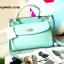 กระเป๋าถือ Mango Tote Bag with turn lock 2015 สีฟ้าน้ำทะเล สดใส thumbnail 1