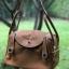 กระเป๋าหนังแท้ ทรงฮิต Lindy 26cm สีน้ำตาล Silver material Coated Leather หนังลูกวัวแท้100% งานคุณภาพไฮเอน thumbnail 6