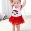 ชุดเดรสบอดี้สูทเด็กหญิง กระโปรงแดง สำหรับเด็กวัย 0-24 เดือน thumbnail 4