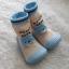 รองเท้าถุงเท้าพื้นยางหัดเดิน สีฟ้า ลายหมี Beary cute size 20-25 thumbnail 7