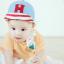 หมวกแก๊ป หมวกเด็กแบบมีปีกด้านหน้า ลายตัวอักษร H (มี 2 สี) thumbnail 2
