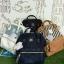 กระเป๋าเป้ Anello The emporium สี กรมท่า (limited edition) ขนาดมินิ กำลังดี วัสดุผ้าแคนวาสสลับหนัง polyester thumbnail 4