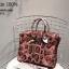 กระเป๋าถือสะพายหนังแท้ สองขนาด ลายงานหนังวัวแท้ สีทูโทน (Leather100%) thumbnail 4