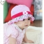 หมวกเด็กหญิง วัย 6-24 เดือน มีระบาย แต่งดอกไม้ปัก thumbnail 5
