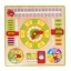 ของเล่นไม้เรียนรู้เวลา ตั้งแต่นาทีจนถึงฤดูกาลใน 1 ปี แบบปฏิทิน Wooden Daily Calendar Clock Board Toy thumbnail 1