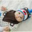 AP179••เซตหมวก+ผ้ากันเปื้อน•• / หมี [สีน้ำตาล+ฟ้า] thumbnail 3