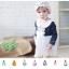 ชุดเดรสเด็กหญิง Augelute คอบัวแขนยาวตุ๊กตา สวยหรู (วัย 3-24 เดือน) thumbnail 5