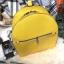 กระเป๋าสะพายเป้ ZARA Sturby Backpack With Zips 2017 สไตล์ PRADA สีเหลือง thumbnail 4
