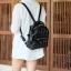 KEEP genuine Leather Mini Chic Backpack Classy Black #ใบนี้หนังแท้เลยค่ะ thumbnail 8