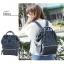 กระเป๋าเป้ Anello polyurethane Mini Navy Blue thumbnail 5