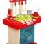 ของเล่นชุดเคาน์เตอร์ครัวมินิ พร้อมอุปกรณ์ทำอาหารสำหรับคุณหนูครบเซต สีแดงสไตล์โมเดิร์น thumbnail 9