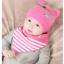 เซตหมวก+ผ้าซับน้ำลาย / ลาย Cat Baby (มี 5 สี) thumbnail 11