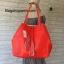 กระเป๋า MNG Shopper bag สีแดง กระเป๋าหนัง เชือกหนังผูกห้วยด้วยพู่เก๋ๆ!! จัดทรงได้ 2 แบบ thumbnail 5