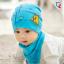 AP205••เซตหมวก+ผ้ากันเปื้อน•• / Camp [สีฟ้า] thumbnail 2