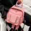 กระเป๋าเป้ Size L สีชมพู JTXS Backpack bag D.I.Y Denim Jeans spring summer high quality made in Hong Kong 2017...งานแท้นะคะ thumbnail 4