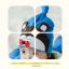 AP179••เซตหมวก+ผ้ากันเปื้อน•• / หมี [สีน้ำตาล+ฟ้า] thumbnail 2