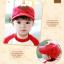 หมวกแก๊ป หมวกเด็กแบบมีปีกด้านหน้า ลายหมีสกรีนสามเหลี่ยม (มี 4 สี) thumbnail 5