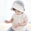 หมวกบอนเน็ตผ้าลูกไม้ หมวกเด็กผู้หญิงปิดท้ายทอย สีครีม (แบบที่ 2) thumbnail 8