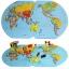 ของเล่นจับคู่ แผนที่โลก+ธงประจำชาติ ขนาด 47*29*0.8 cm thumbnail 1