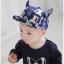 หมวกแก๊ป หมวกเด็กแบบมีปีกด้านหน้า ลายแมวเหมียว (มี 3 สี) thumbnail 5