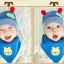 เซตหมวก+ผ้าซับน้ำลาย / ลายหมีน้อย (มี 5 สี) thumbnail 12