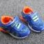 รองเท้าเด็กวัยหัดเดิน ทรง Sport คัทชูทรงเท่สีฟ้าส้ม (เท้ายาว 12-14 ซม.) thumbnail 3
