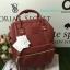 กระเป๋าเป้ Anello polyurethane leather rucksack Red Wine Mini thumbnail 3