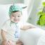 HT211••หมวกเด็ก•• / [สีเขียว] หมวกนักบินลายสามเหลี่ยม thumbnail 1
