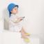 หมวกเด็กปีกกว้าง หมวกซันเดย์ ลายสับปะรด (มี 2 สี) thumbnail 3