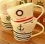 แก้วเซรามิคลายกะลาสีเรือ < พร้อมส่ง > thumbnail 1