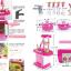 ของเล่นชุดเคาน์เตอร์ครัวมินิ พร้อมอุปกรณ์ทำอาหารสำหรับคุณหนูครบเซต สีชมพูสวยหวาน thumbnail 4