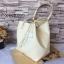 กระเป๋า MNG Shopper bag สีขาวครีม กระเป๋าหนัง เชือกหนังผูกห้วยด้วยพู่เก๋ๆ!! จัดทรงได้ 2 แบบ thumbnail 7
