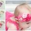 ผ้าคาดผมเด็กเจ้าหญิงน้อยยุโรป กลุ่มดอกไม้ผ้าเกสรเพชร น่ารักระดับพรีเมี่ยม thumbnail 5