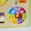 ของเล่นไม้เรียนรู้เวลา ตั้งแต่นาทีจนถึงฤดูกาลใน 1 ปี แบบปฏิทิน Wooden Daily Calendar Clock Board Toy thumbnail 12