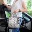 กระเป๋า David Jones Tote ตัวกระเป๋าเย็บติดด้วยแผ่นอคิลิค สีเงิน ราคา 1,590 บาท Free Ems thumbnail 9