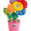 ของเล่นผ้า Lamaze กระถางดอกไม้คุณหนูอารมณ์ดี มีเสียงหัวเราะ มีไฟ ก้านพันขดได้ thumbnail 4
