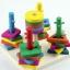ของเล่นไม้ บล็อคไม้สวมหลัก เสริมพัฒนาการ thumbnail 4